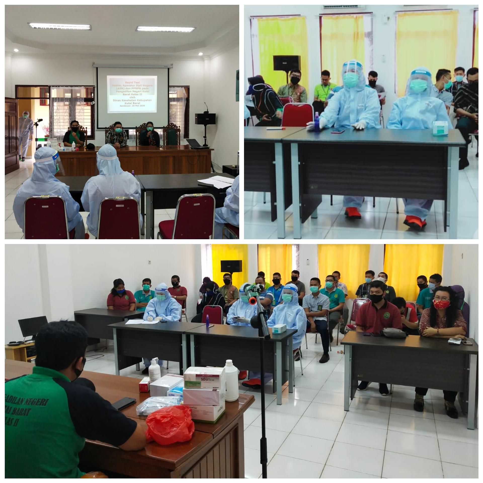 Pelaksanaan Rapid Test Pengadilan Negeri Kutai Barat Kelas II